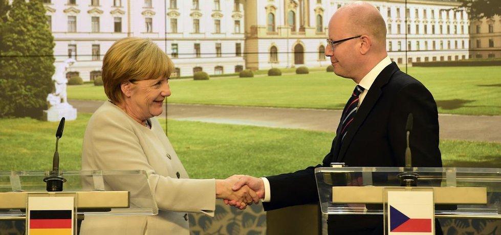 Angela Merkelová a Bohuslav Sobotka (Zdroj: čtk)
