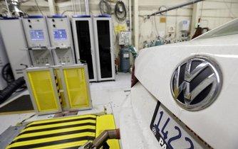 Měření emisí u vozu Volkswagen