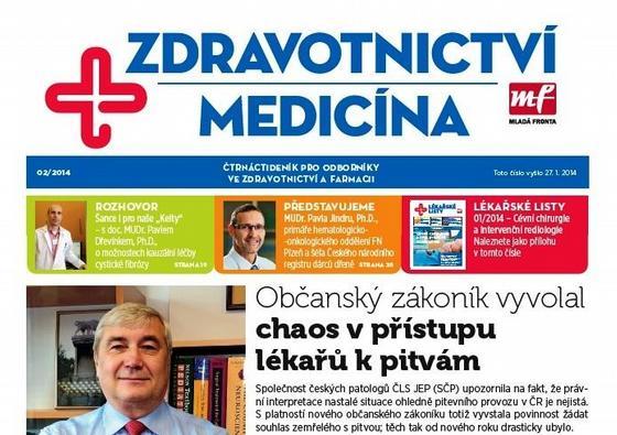 Zdravotnictví a medicína 2/2014, titulní strana