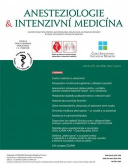 Obálka Anesteziologie a intenzívní medicína