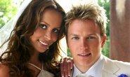 Svatební foto Kimiho Raikkonena a Jenni Dahlmanové