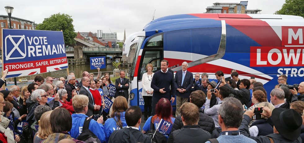 David Cameron během kampaně k britskému referendu o setrvání v Evropské unii
