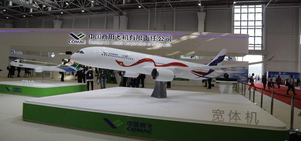 Projekt Rusko-čínského dopravního letadla firmy představily na aerosalonu v čínském Ču-chaj.