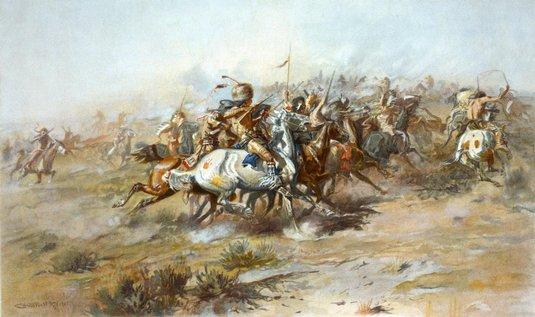 Obraz bitvy u Little Bighornu