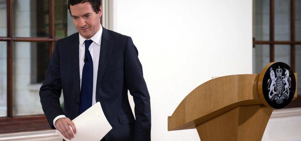 George Osborne oznámil, že britská ekonomika po brexitu vykazuje známky šoku. (Zdroj ČTK)