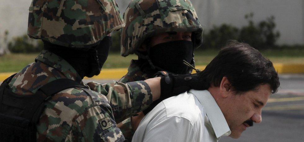 mexický narkobaron Joaquín Guzmán