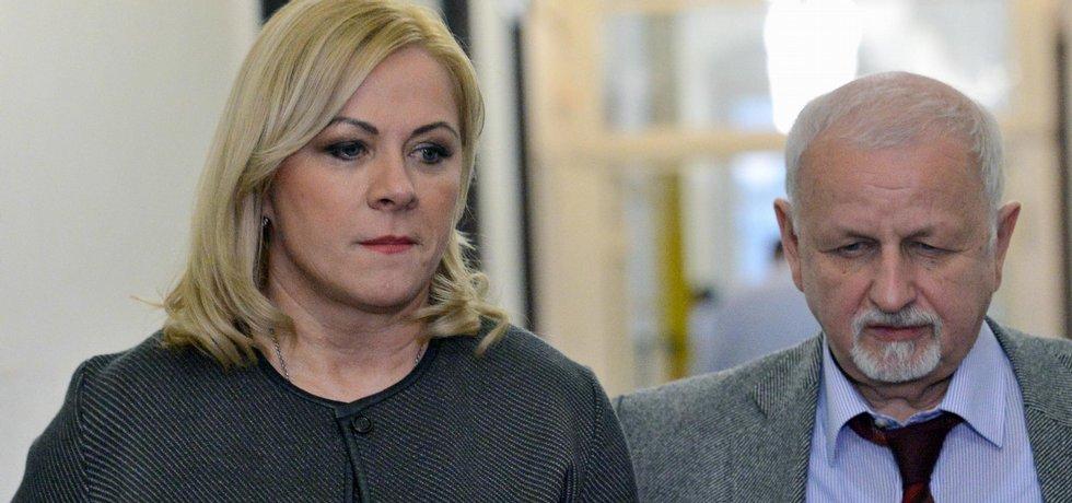 Jana Nečasová, dříve Nagyová, někdejší šéfka kabinetu expremiéra Petra Nečase a jeho nynější manželka obžalovaná ze zneužití Vojenského zpravodajství