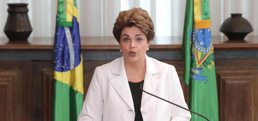 Dilma Rousseffová, bývalá a dnes již sesazená prezidentka Brazilie