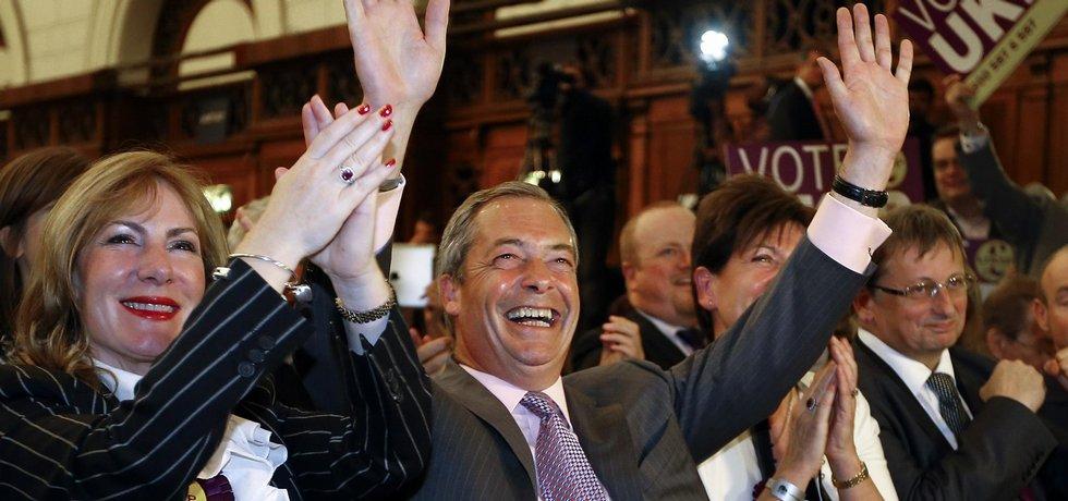 šéf strany UKIP Nigel Farage