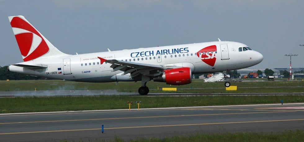 Airbus A319 aerolinek ČSA