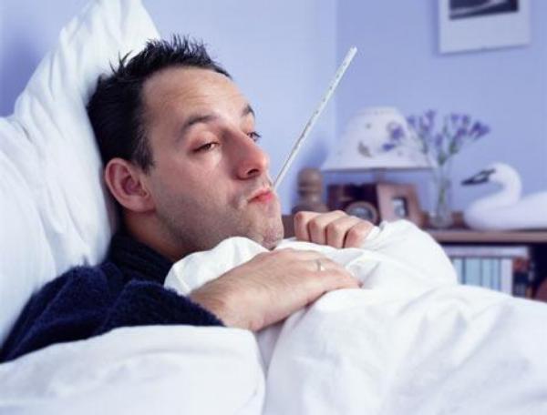 chřipka, pacient, horečka