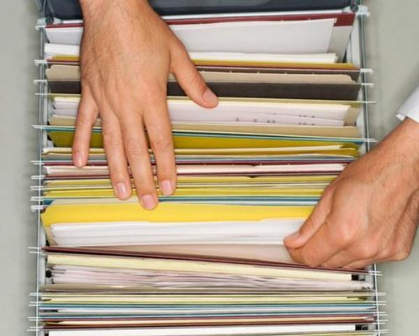 dokumenty, kartotéka