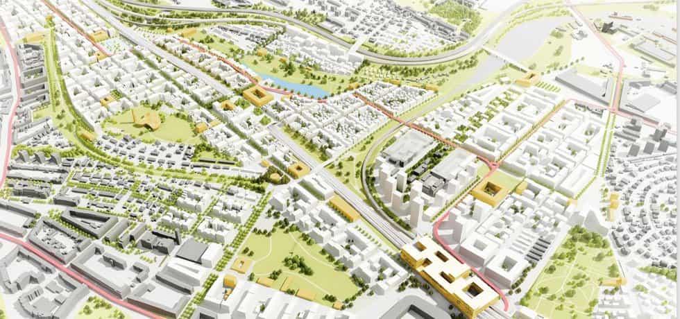 Vizualizace rozvojového území Slatiny