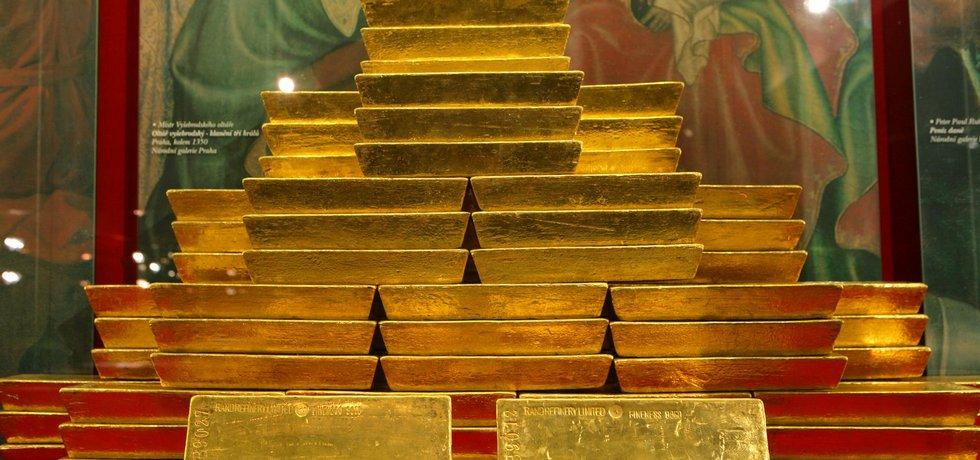 ilustrační foto zlatých cihel