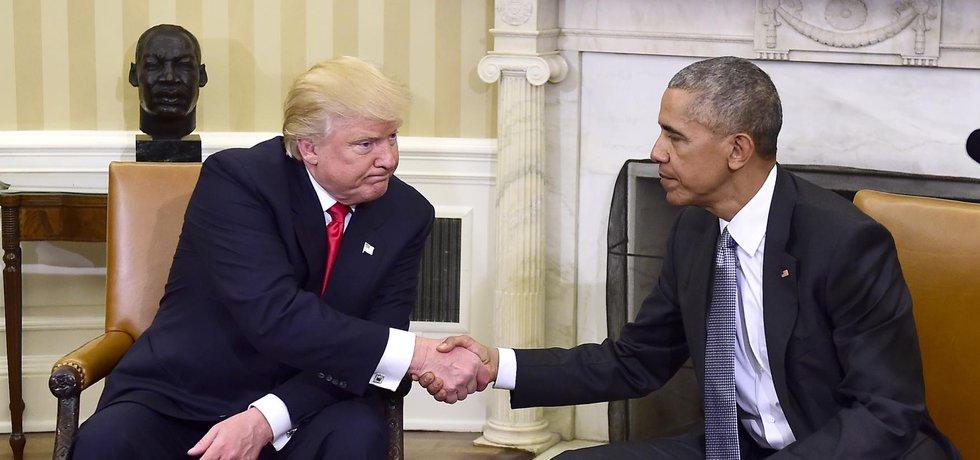Donald Trump se sešel s Barackem Obamou