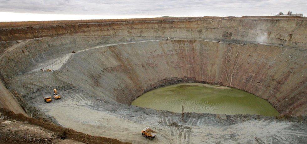 Diamantový důl Mirnyj (Zdroj: ČTK)