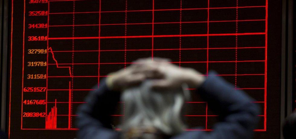 Propad čínských akcií