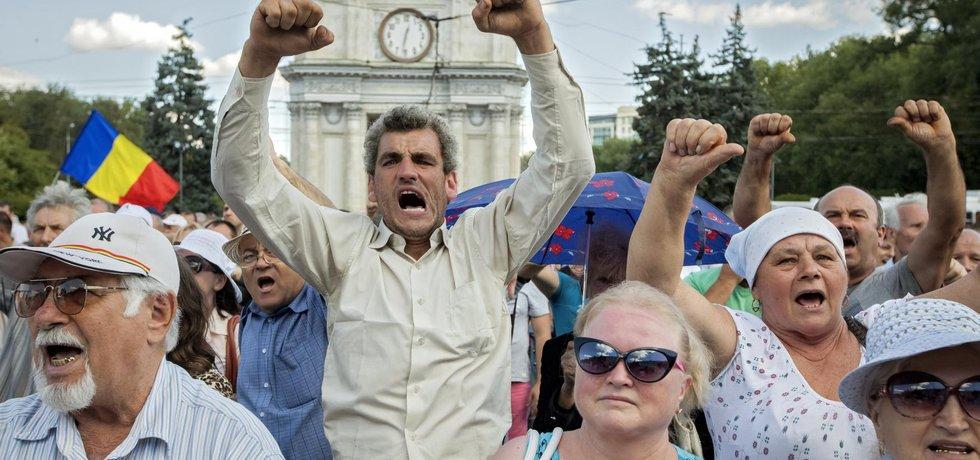 Protesty v Moldavsku - ilustrační foto