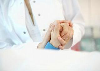 ruce, lékař, pacient, nemocnice