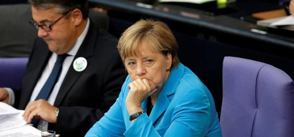 Angela Merkelová v Bundestagu