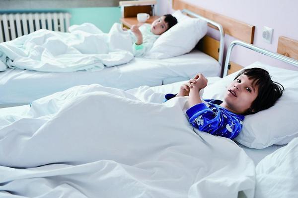 děti, pokoj, nemocnice, pediatrie