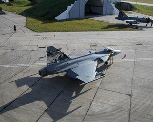 Čáslavská Tygří letka létající na strojích JAS 39 Gripen