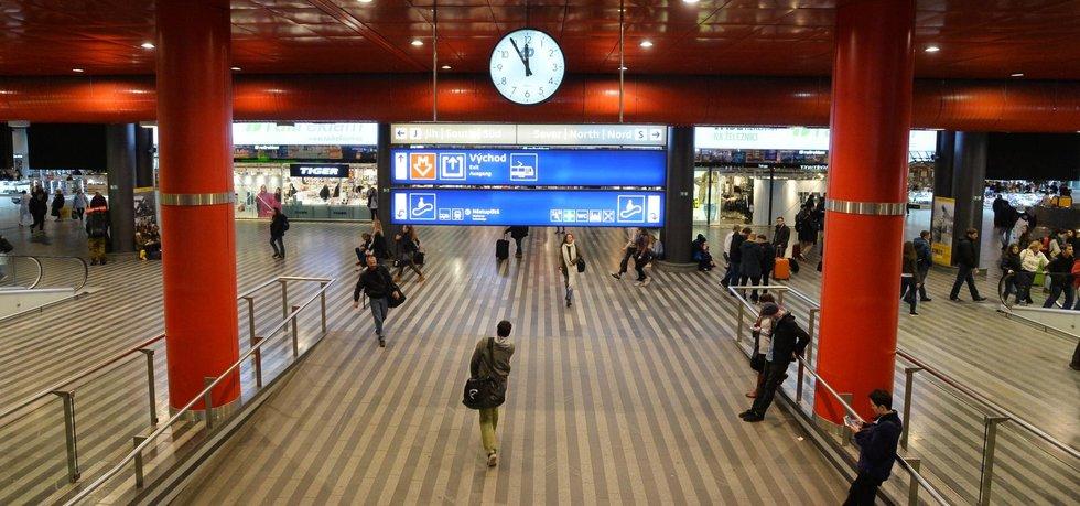 Interiér pražského hlavního nádraží