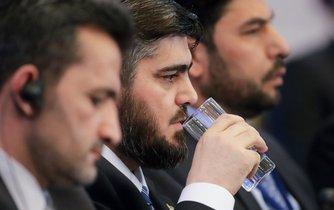 Mohamed Aloush, vůdce představitelů syrské opozice během mírových rozhovorů v kazašské Astaně