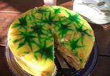 Piškotový dort s ananasem