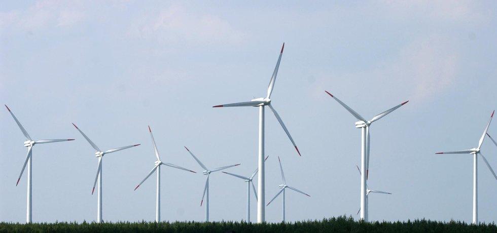 Větrná elektrárna nedaleko Drážďan