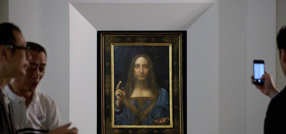 Odhalení obrazu Leonarda da Vinciho Salvator Mundi v Hongkongu
