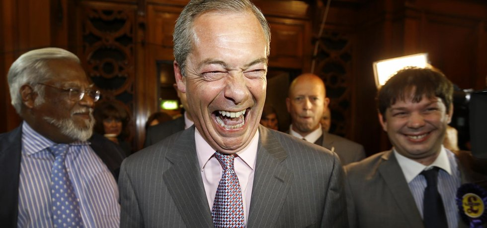 Britský europoslanec Nigel Farage (Zdroj: čtk)