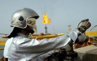 Těžba ropy v perském zálivu