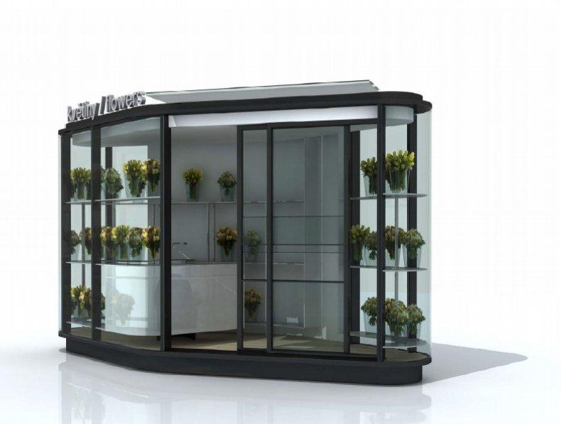 První typ stánku by zákazníkům nabízel květiny