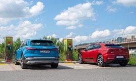 Audi e-tron a Jaguar i-Pace