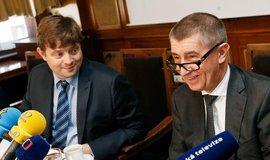 Šéf finanční správy Martin Janeček po boku Andreje Babiše