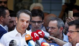 Lídr řecké strany Nová demokracie Kyriakos Mitsotakis