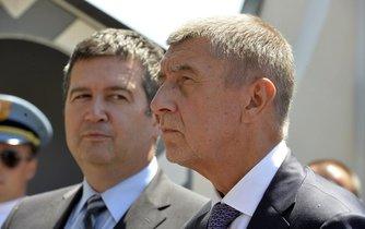 Vicepremiér Jan Hamáček a předseda vlády Andrej Babiš