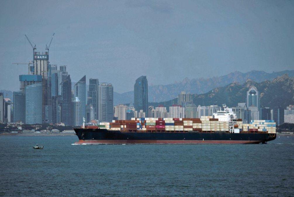 Čínský přístav Čching-tao, ilustrační foto