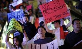 Protesty proti Donaldu Trumpovi v Las Vegas
