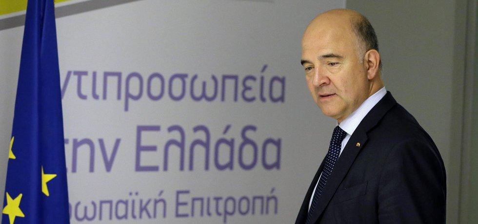 Eurokomisař pro hospodářské a finanční záležitosti Pierre Moscovici