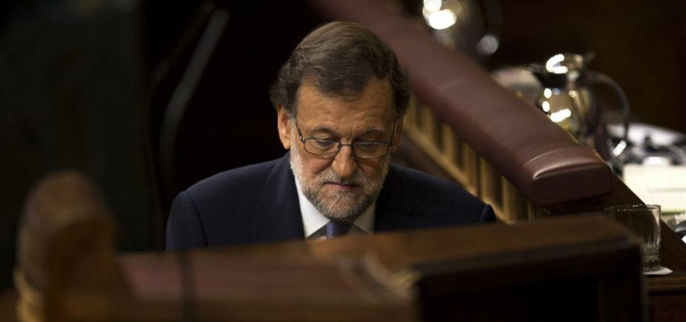 Mariano Rajoy při neúspěšném pokusu získat důvěru parlamentu. (Zdroj ČTK)