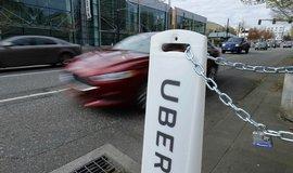 Uber - označení nástupní plochy v americkém Portlandu
