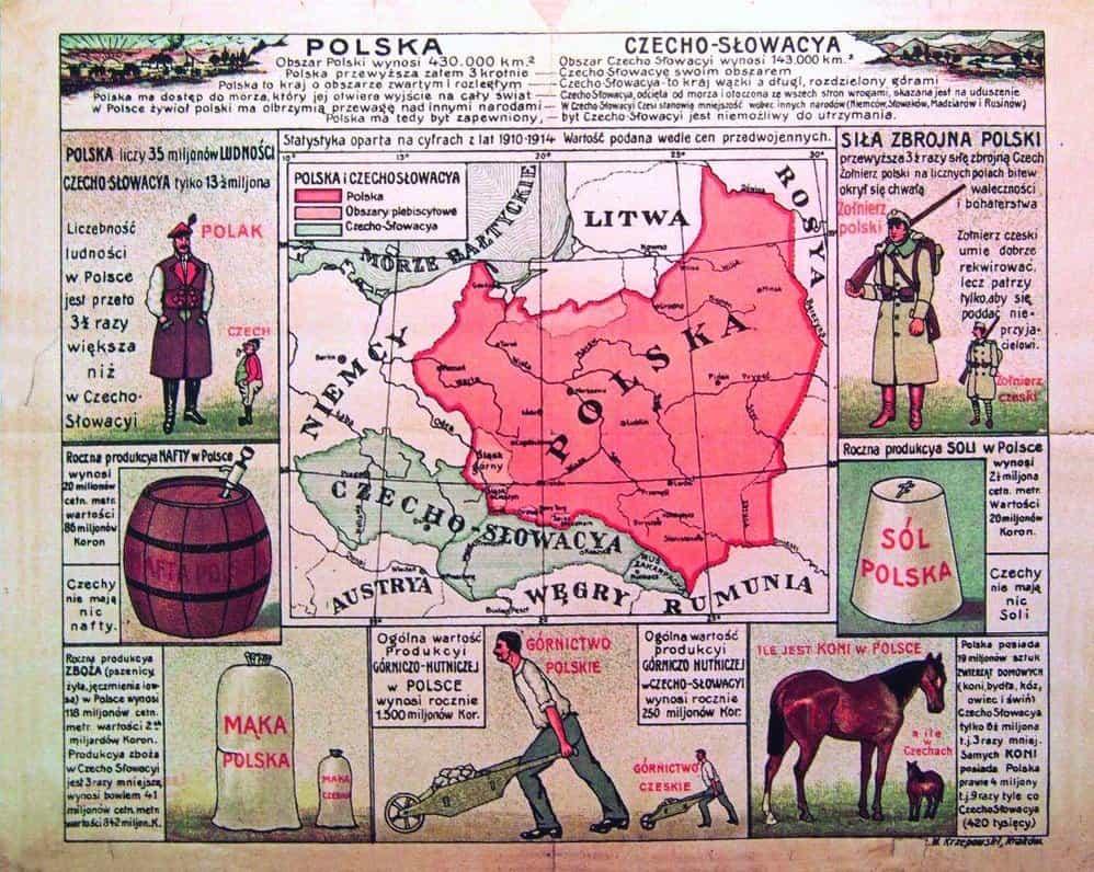 Ukázka polské propagandy v duchu - Ó, jak jsme velicí a Češi malí
