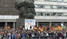 Demonstrace v Chemnitzu, ilustrační foto