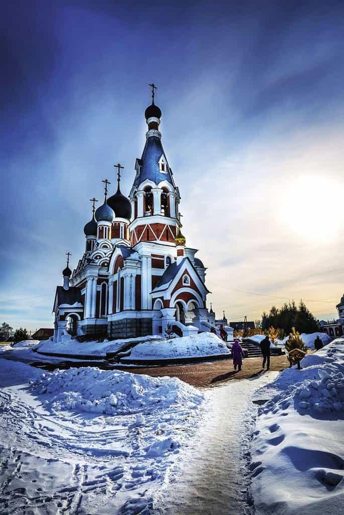 Jednou z perspektivních oblastí pro naše podnikatele je Sibiřský federální okruh. Na snímku katedrála Proměnění Páně ve městě Berdsk v Novosibirské oblasti