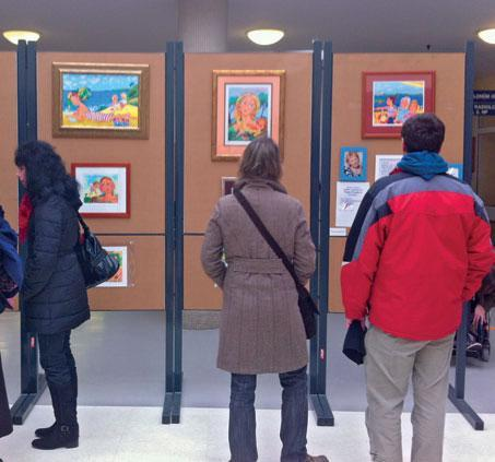 Výstava obrazů Brna v dětské nemocnici