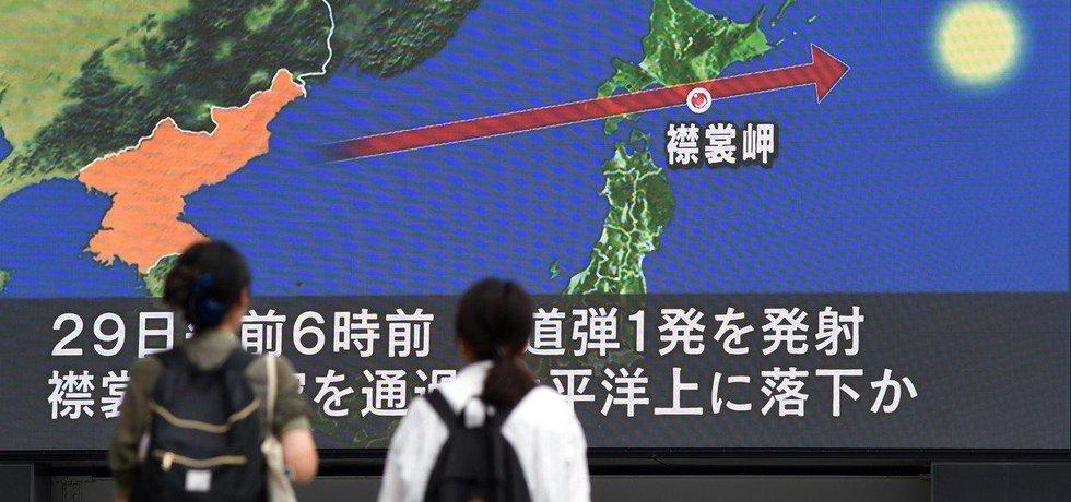 KLDR odpálila další raketu. Přeletěla Japonsko a a dopadla do Tichého oceánu zhruba 1180 kilometrů východně od ostrova Hokkaidó