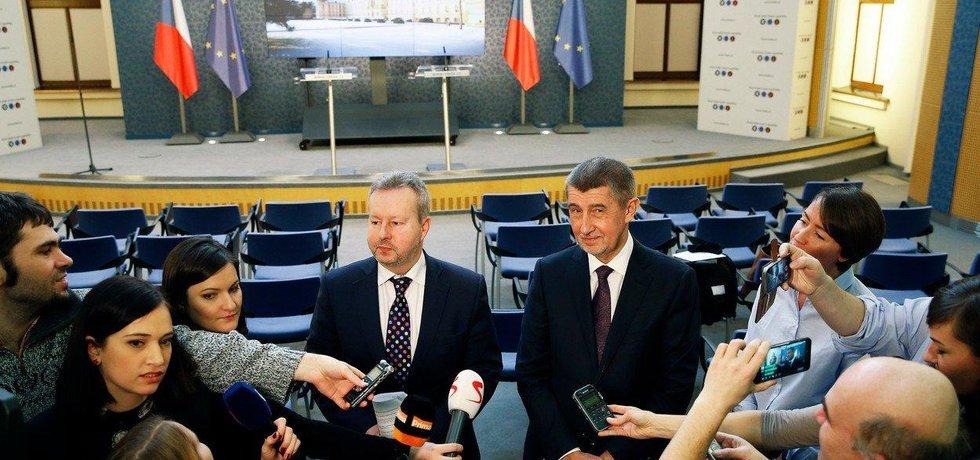 Premiér v demisi Andrej Babiš a Richard Brabec