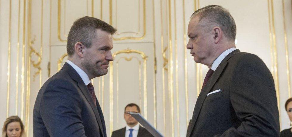Slovenský prezident Andrej Kiska a premiér Peter Pellegrini